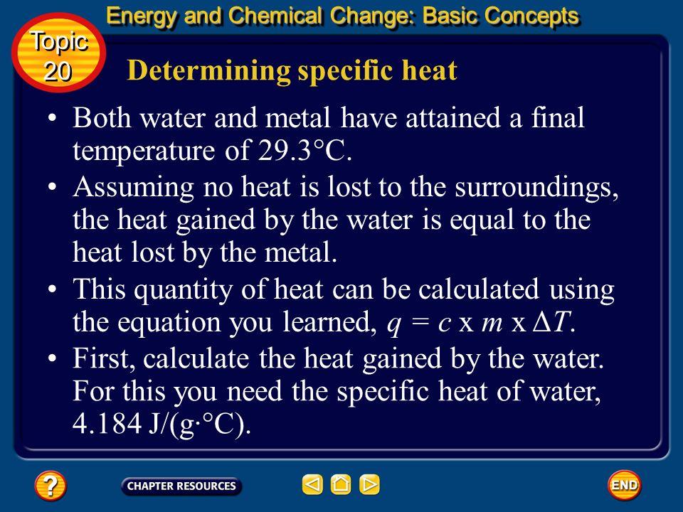 Determining specific heat