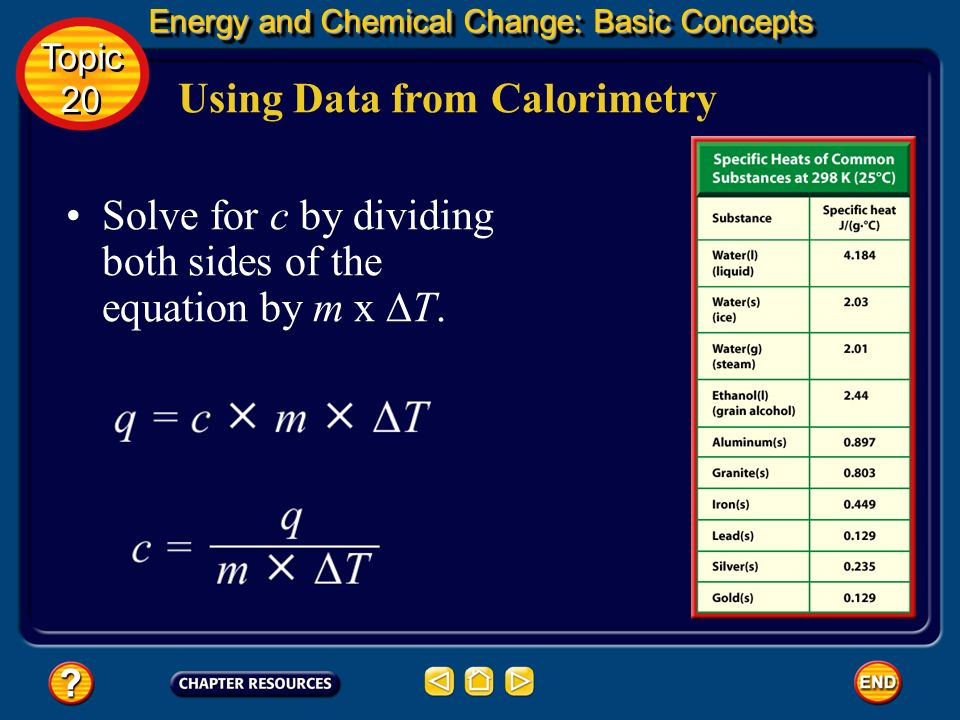 Using Data from Calorimetry