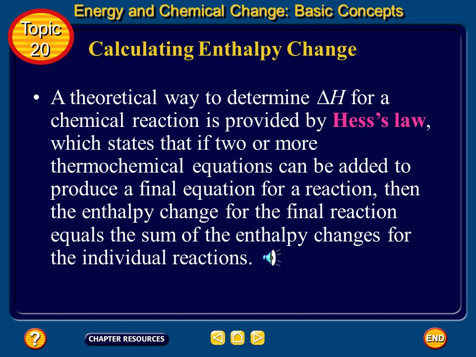 Calculating Enthalpy Change