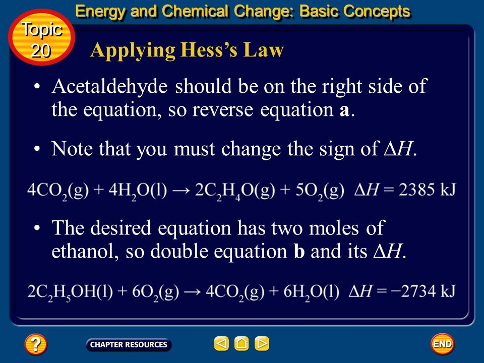 Note that you must change the sign of ∆H.