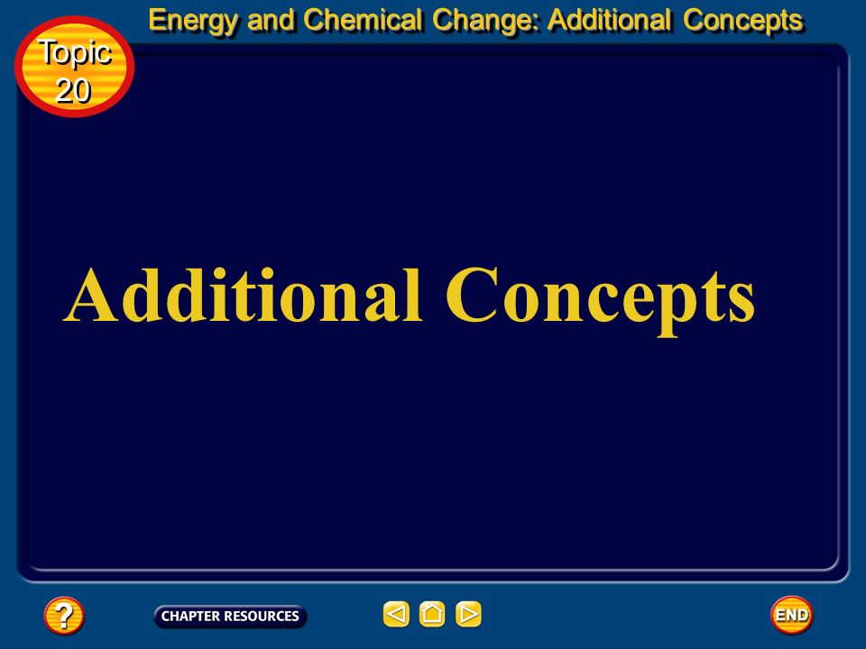 Additional Concepts Topic 20