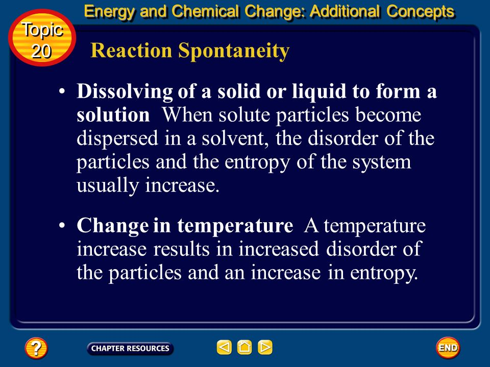 Energy and Chemical Change: Additional Concepts