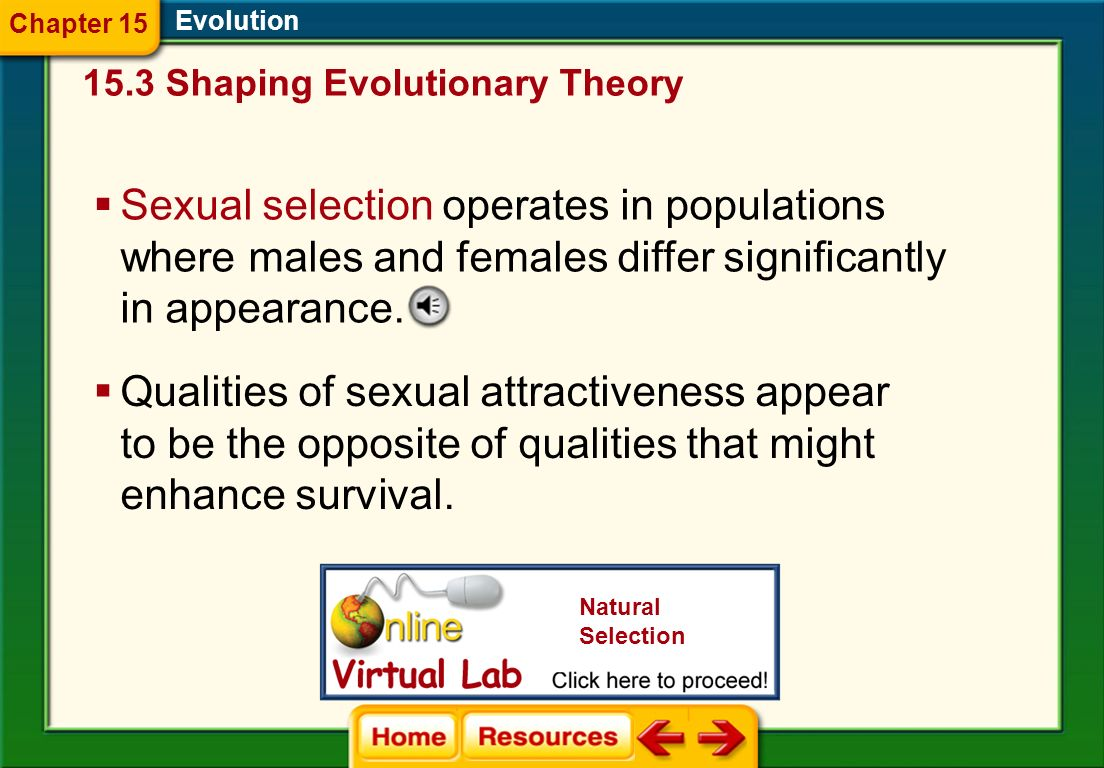 Chapter 15Evolution. 15.3 Shaping Evolutionary Theory.