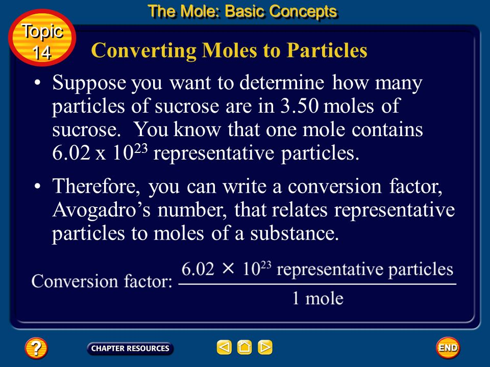 Converting Moles to Particles