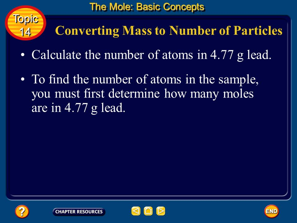 Converting Mass to Number of Particles
