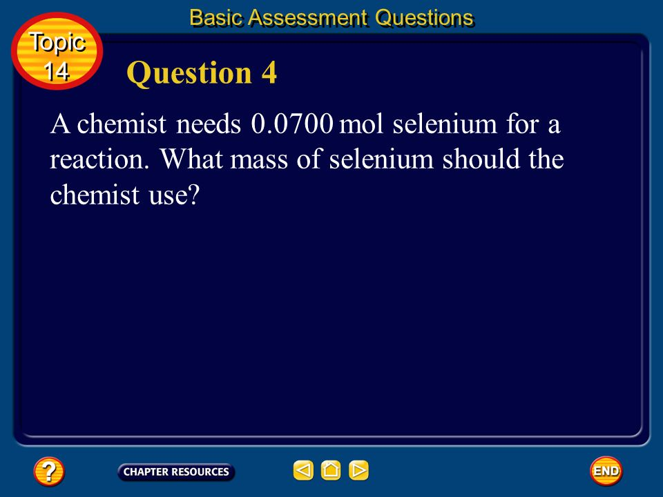 Basic Assessment Questions