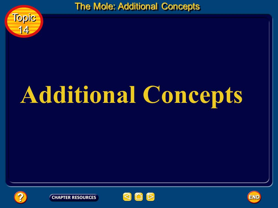 The Mole: Additional Concepts