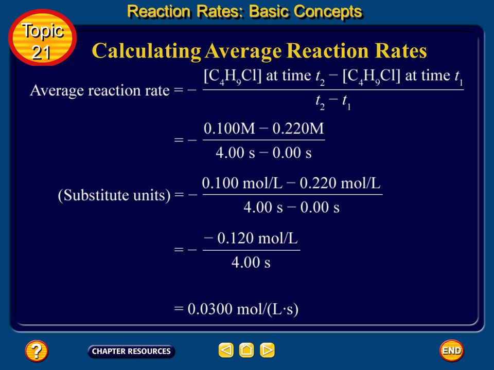 Calculating Average Reaction Rates