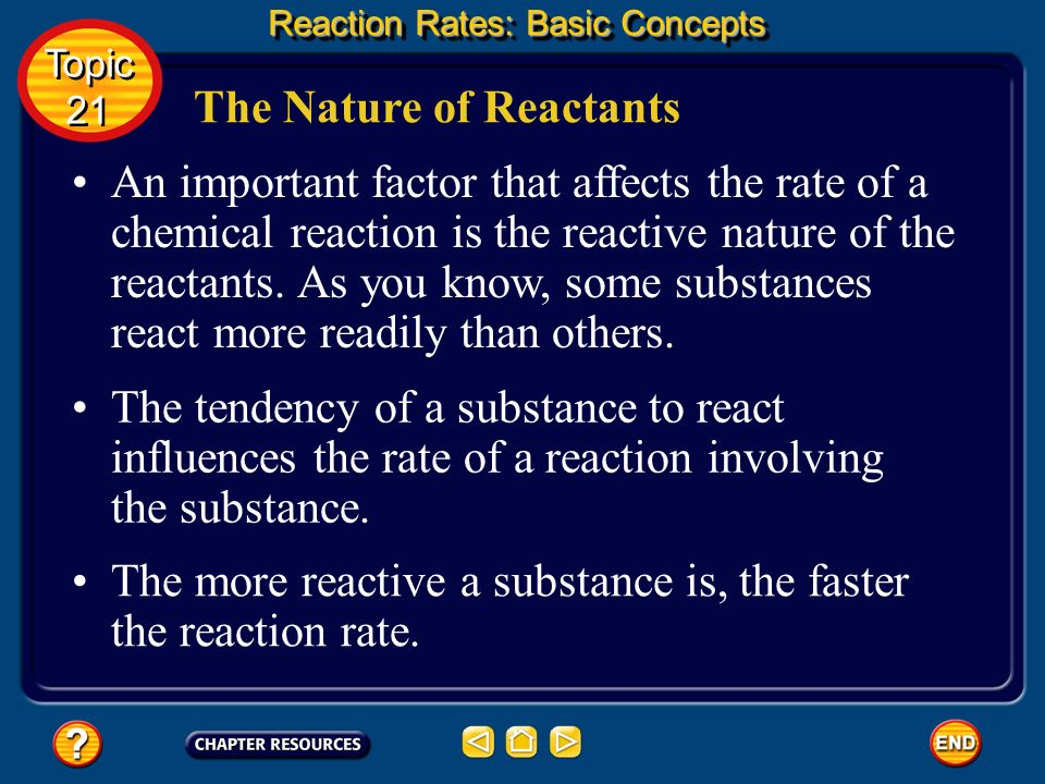 The Nature of Reactants