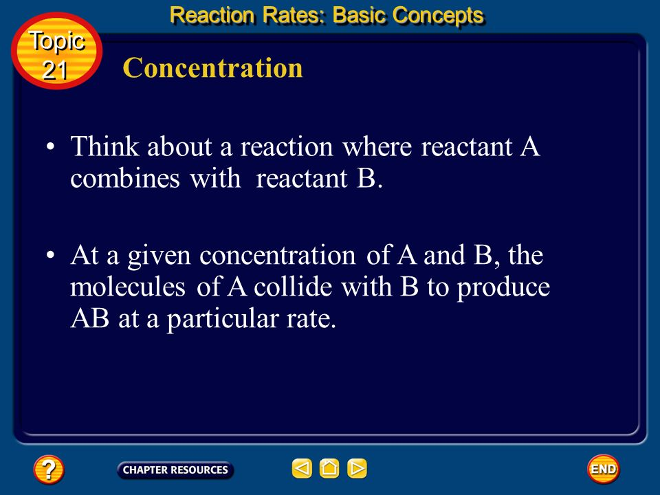 Think about a reaction where reactant A combines with reactant B.