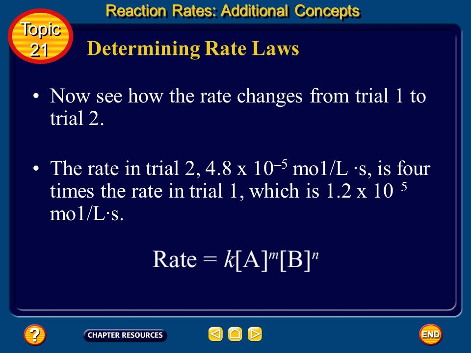 Now see how the rate changes from trial 1 to trial 2.