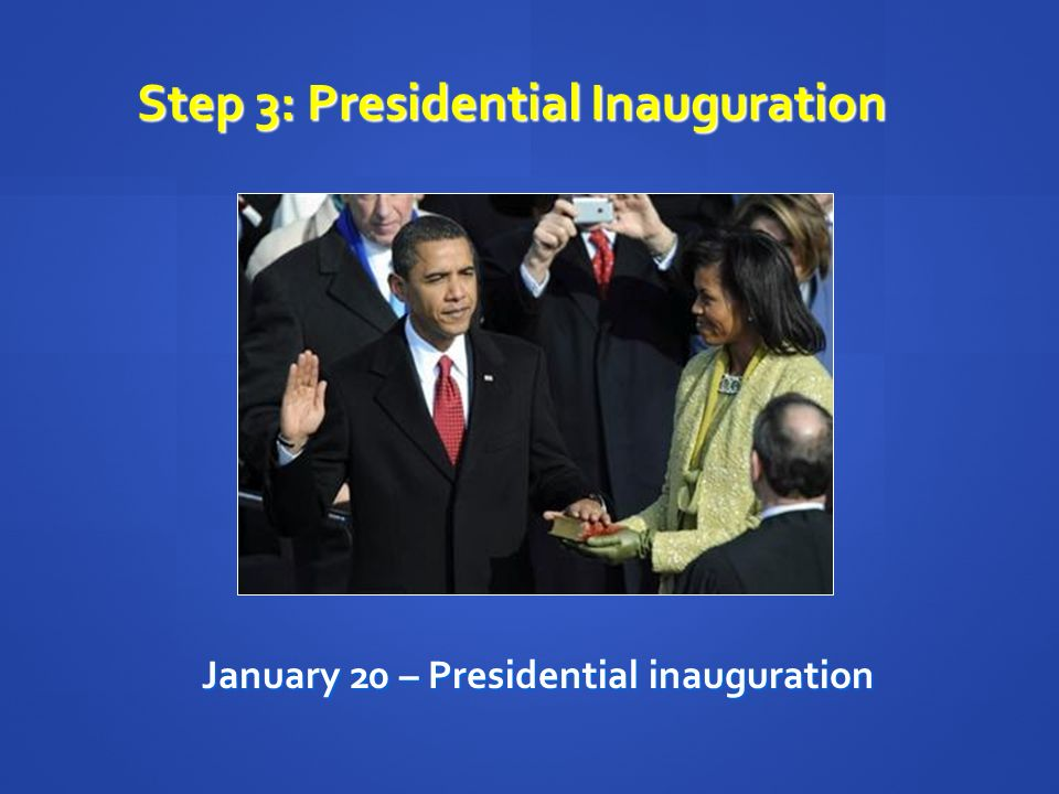Step 3: Presidential Inauguration