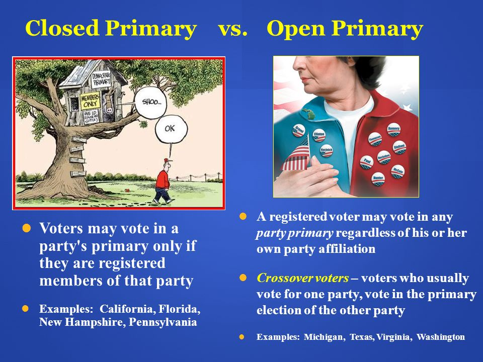 Closed Primary vs. Open Primary