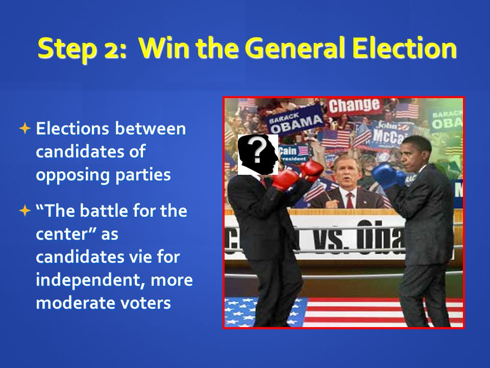 Step 2: Win the General Election