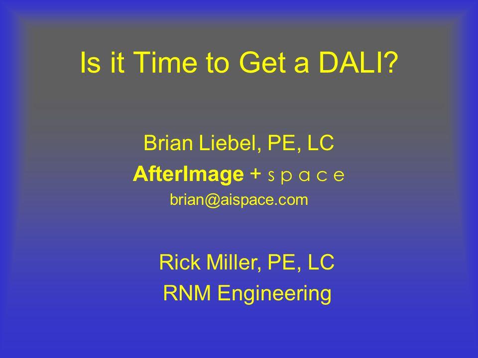Brian Liebel, PE, LC AfterImage + s p a c e brian@aispace.com