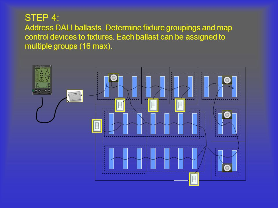 STEP 4: Address DALI ballasts