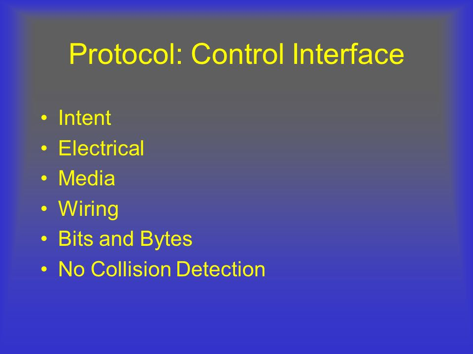 Protocol: Control Interface