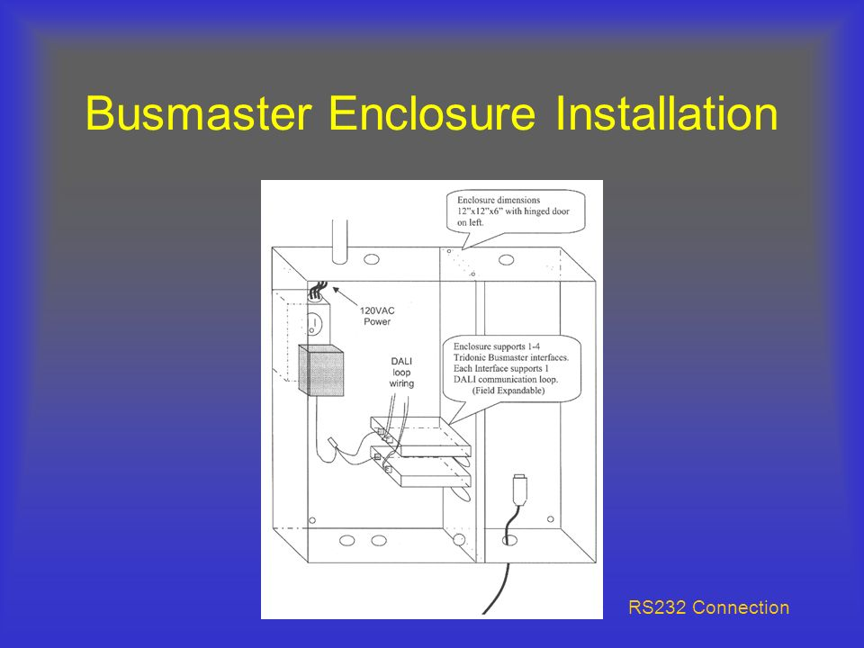 Busmaster Enclosure Installation