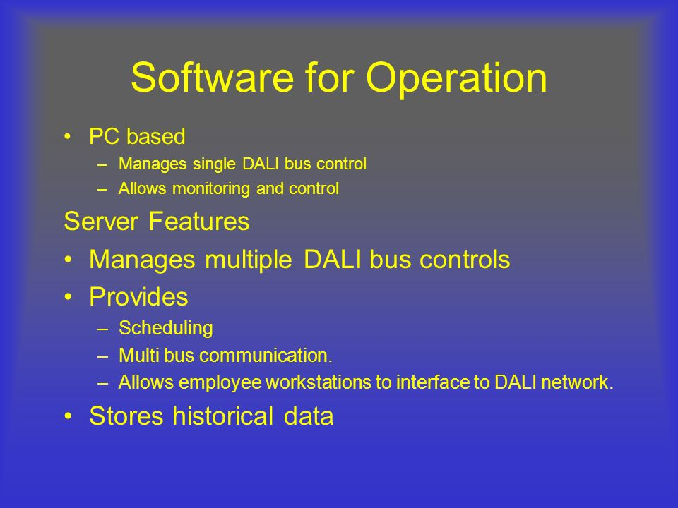 Software for Operation