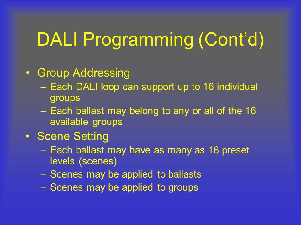 DALI Programming (Cont'd)