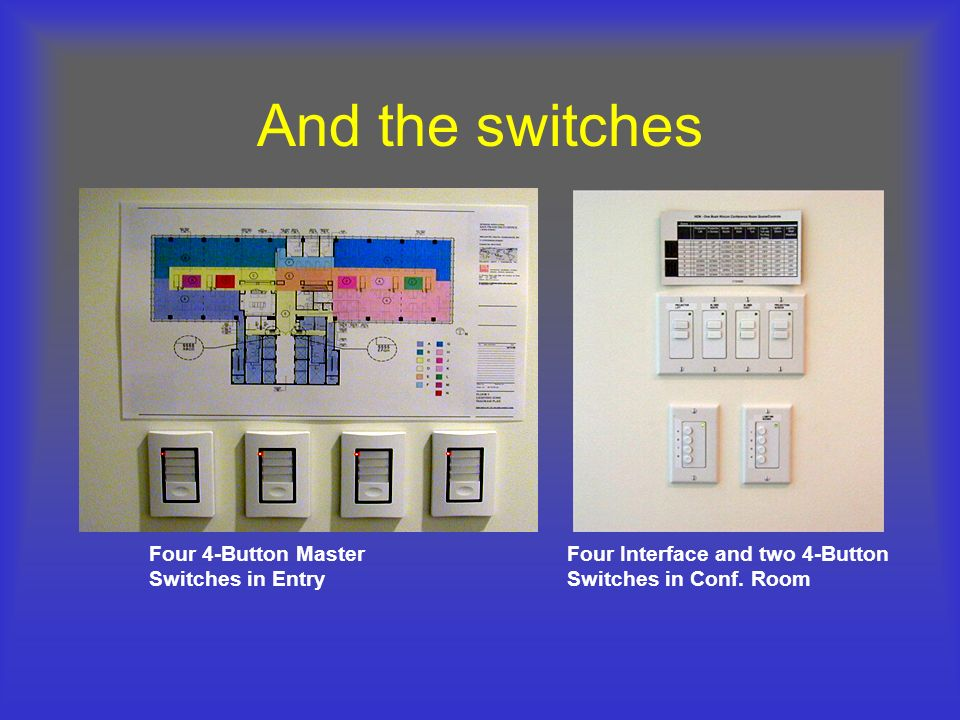 And the switches Four 4-Button Master Switches in Entry