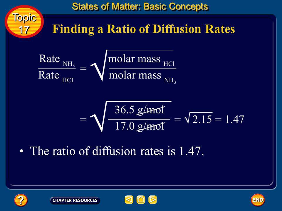 Finding a Ratio of Diffusion Rates