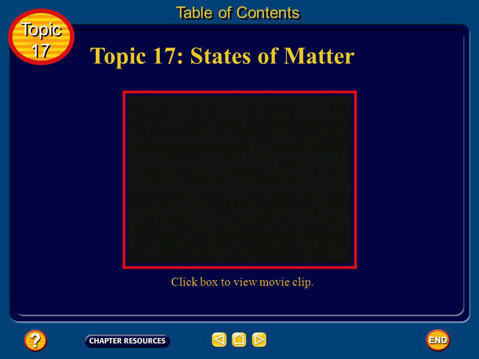 Topic 17: States of Matter