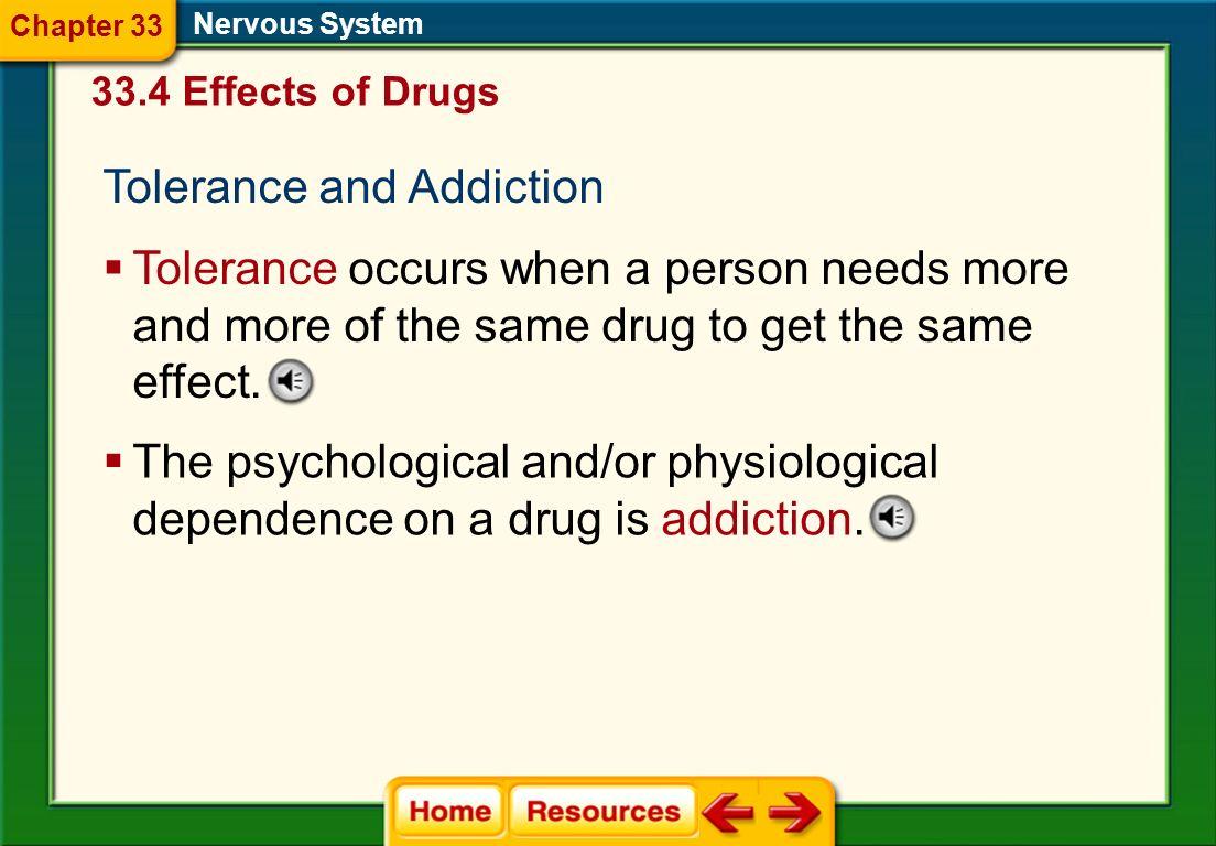 Tolerance and Addiction