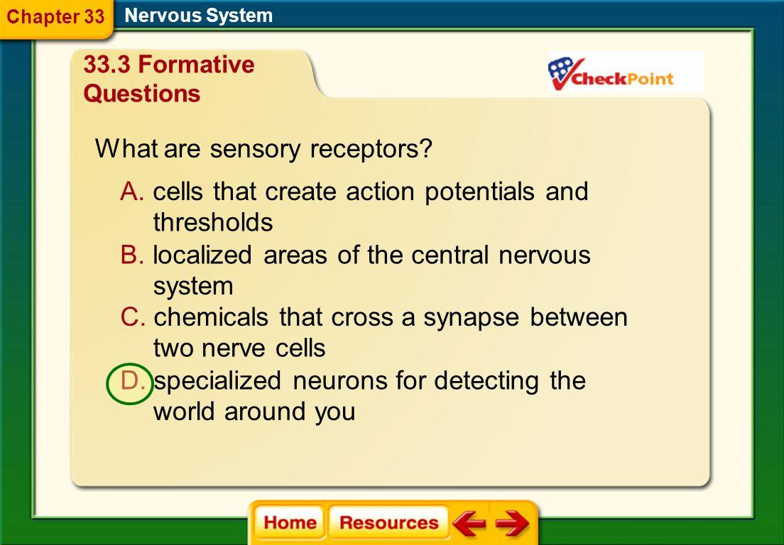 What are sensory receptors