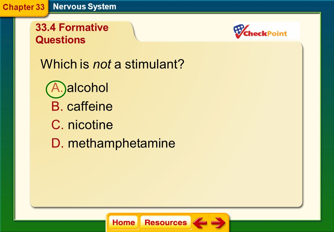 Which is not a stimulant
