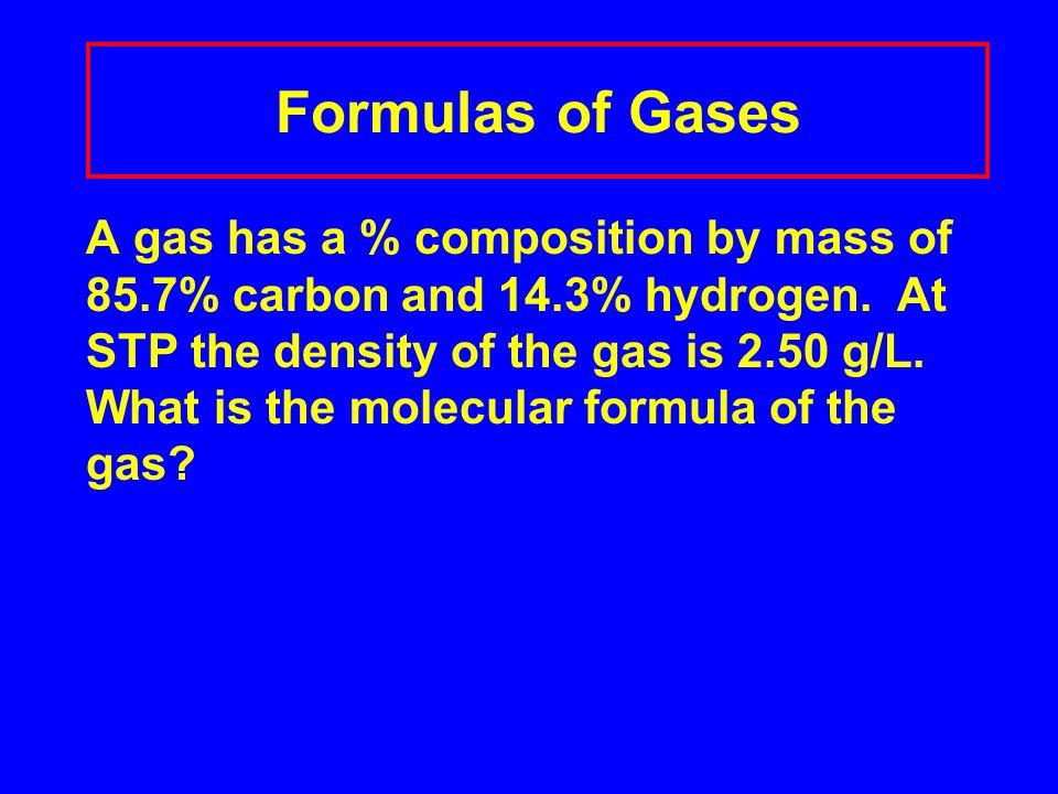 Formulas of Gases