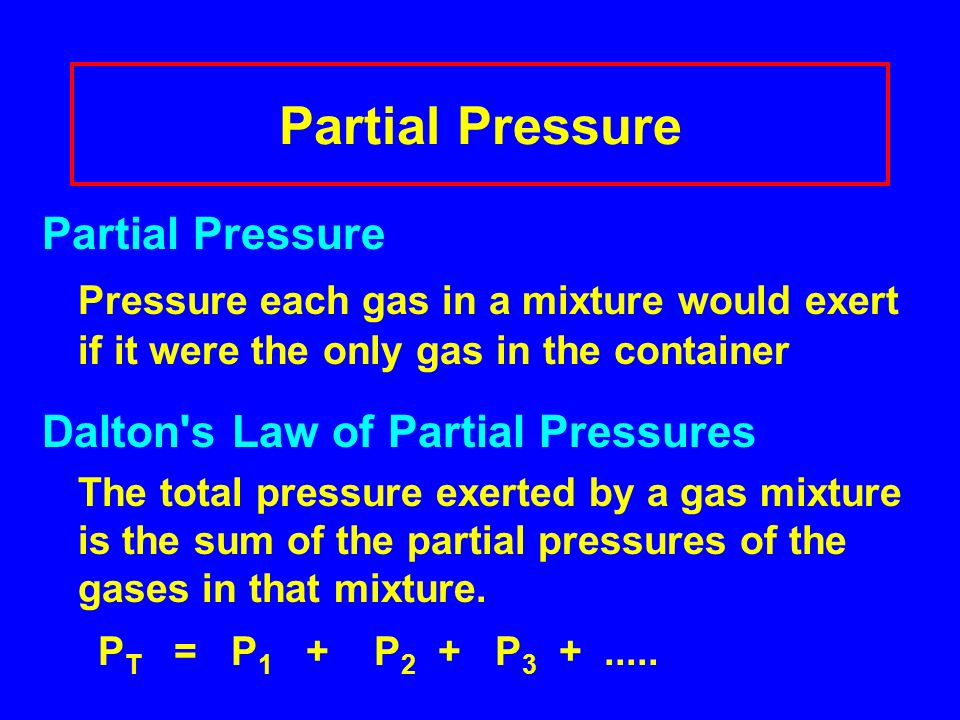Partial Pressure Partial Pressure