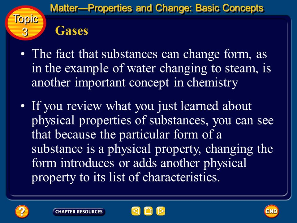 Matter—Properties and Change: Basic Concepts