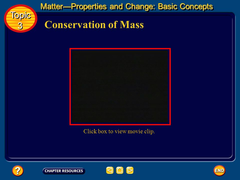 Conservation of Mass Topic 3