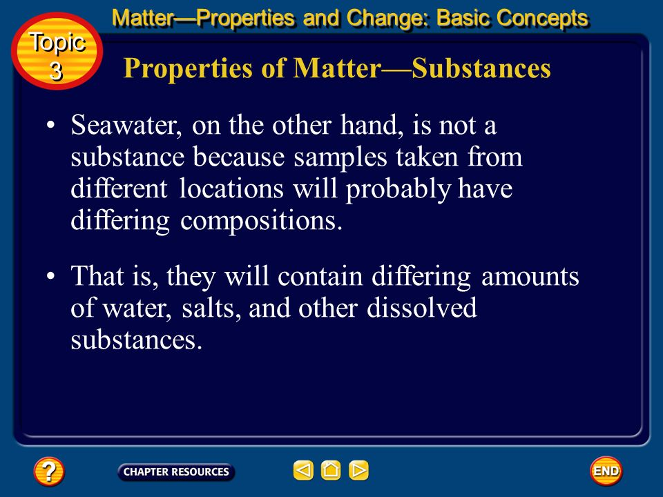 Properties of Matter—Substances