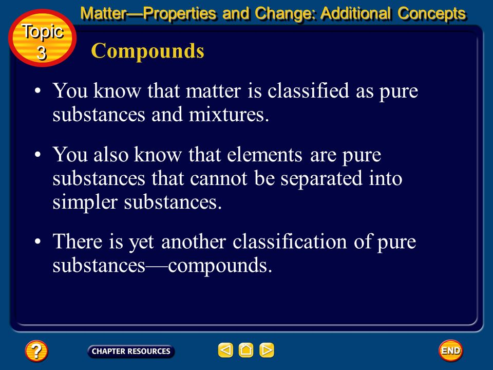 You know that matter is classified as pure substances and mixtures.