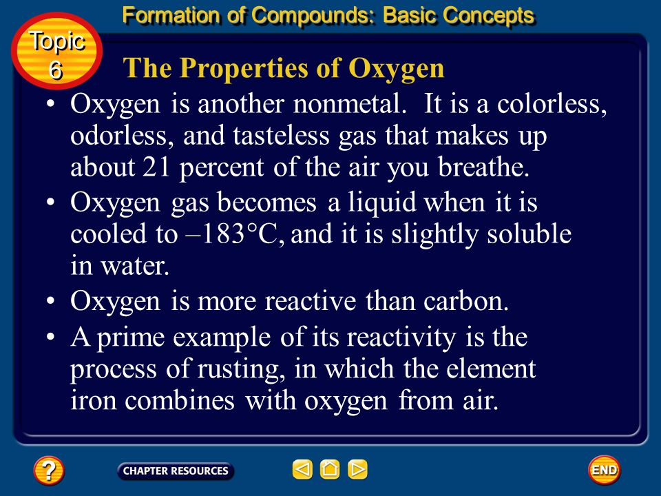 The Properties of Oxygen