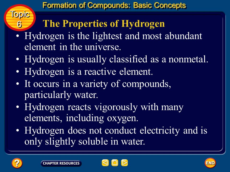 The Properties of Hydrogen