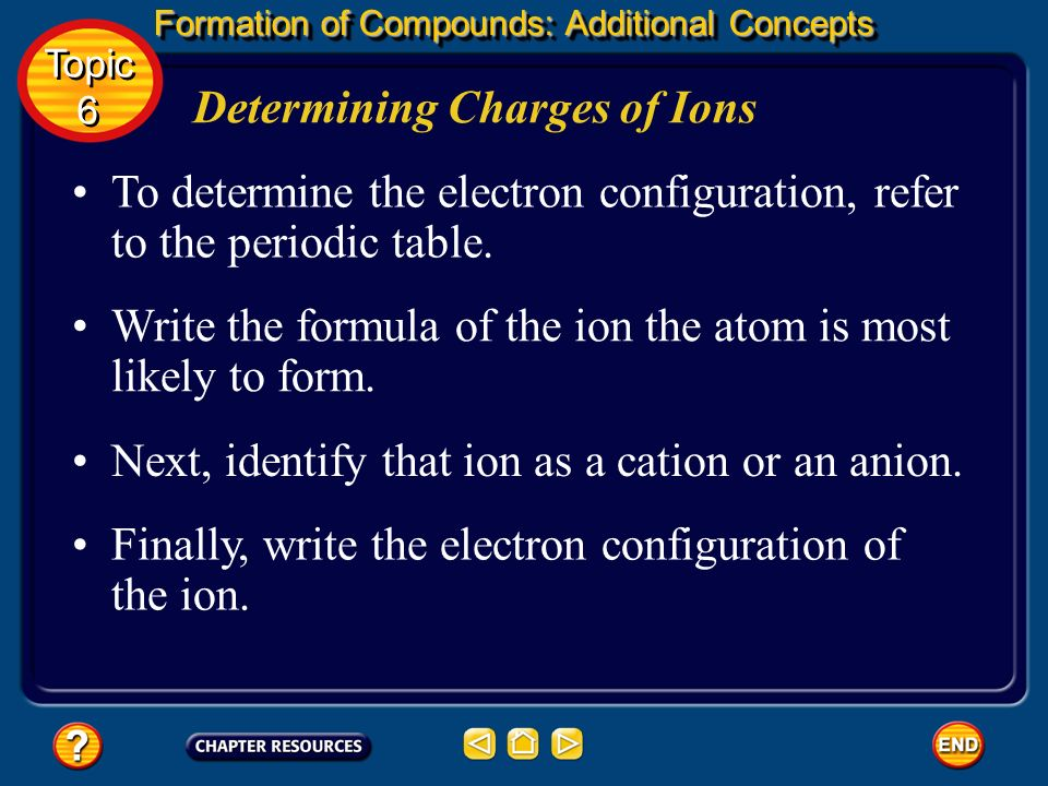 Topic ppt video online download 48 determining charges of ions urtaz Image collections