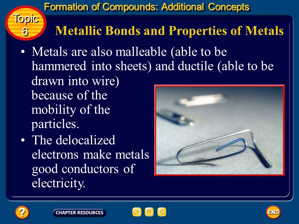 Metallic Bonds and Properties of Metals