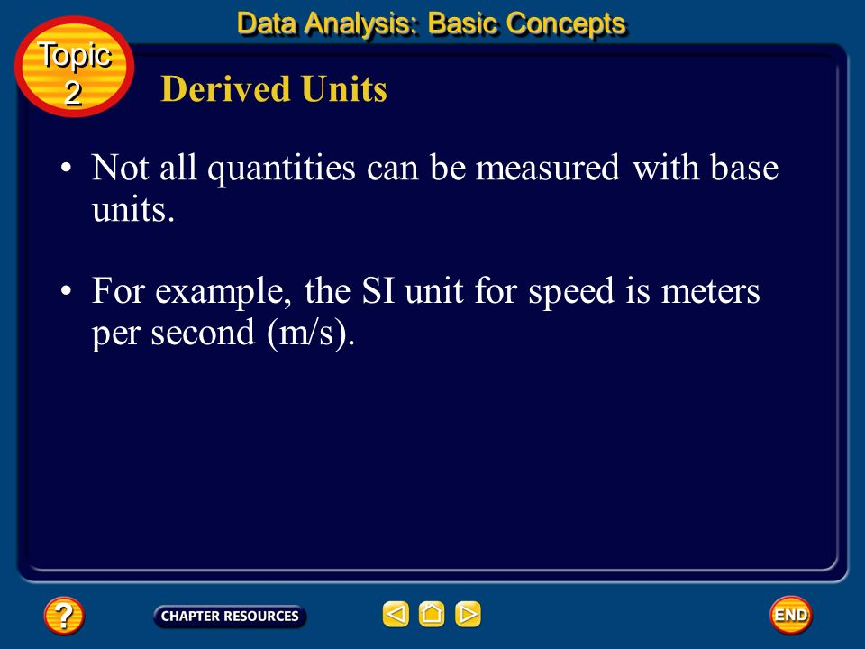 Not all quantities can be measured with base units.