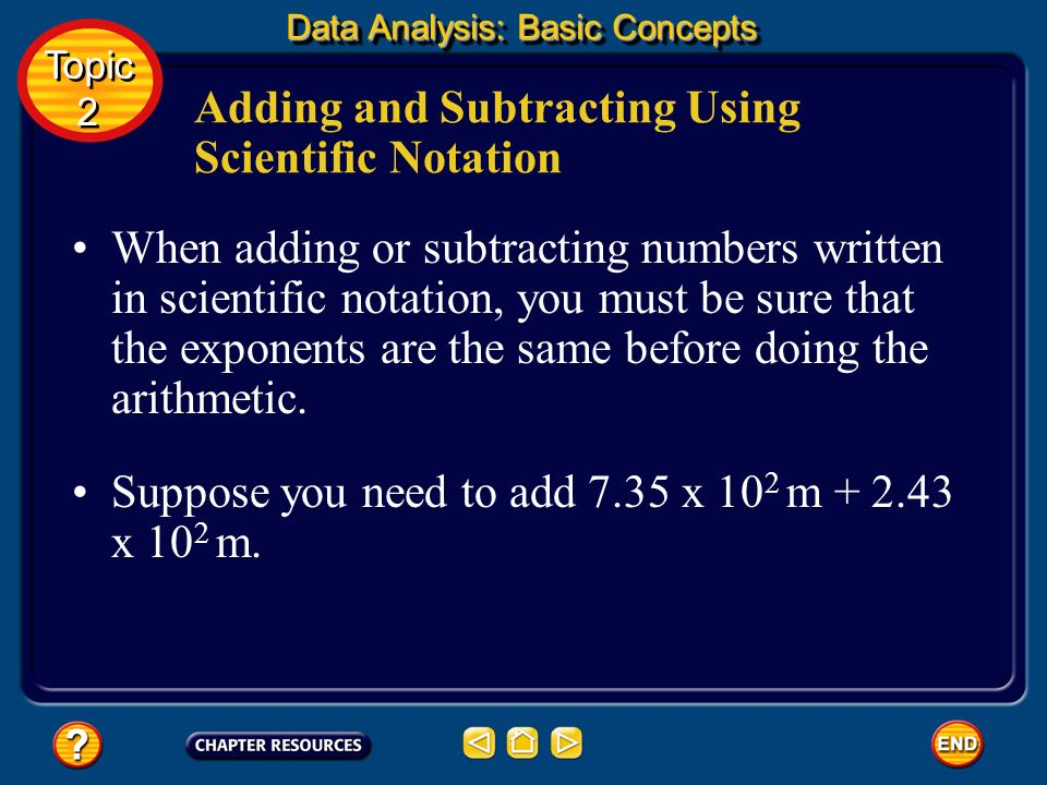 Adding and Subtracting Using Scientific Notation