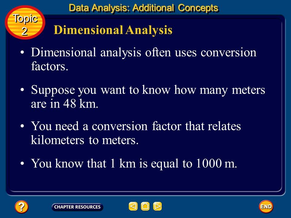 Dimensional analysis often uses conversion factors.