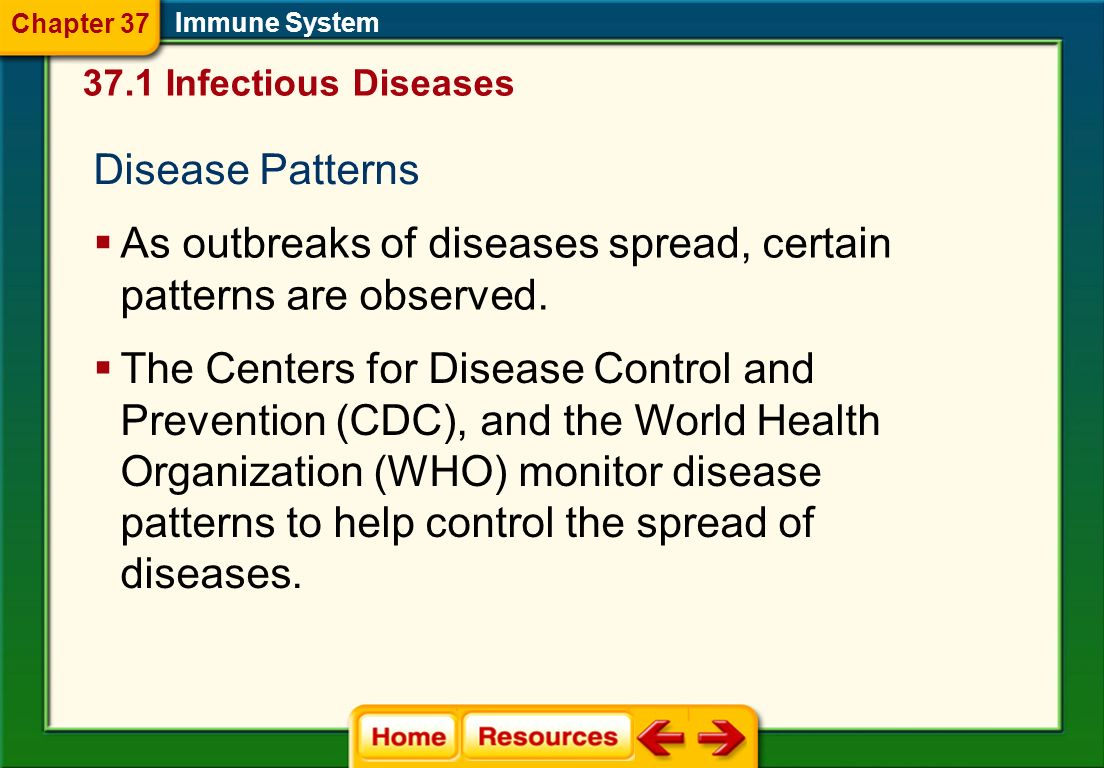As outbreaks of diseases spread, certain patterns are observed.