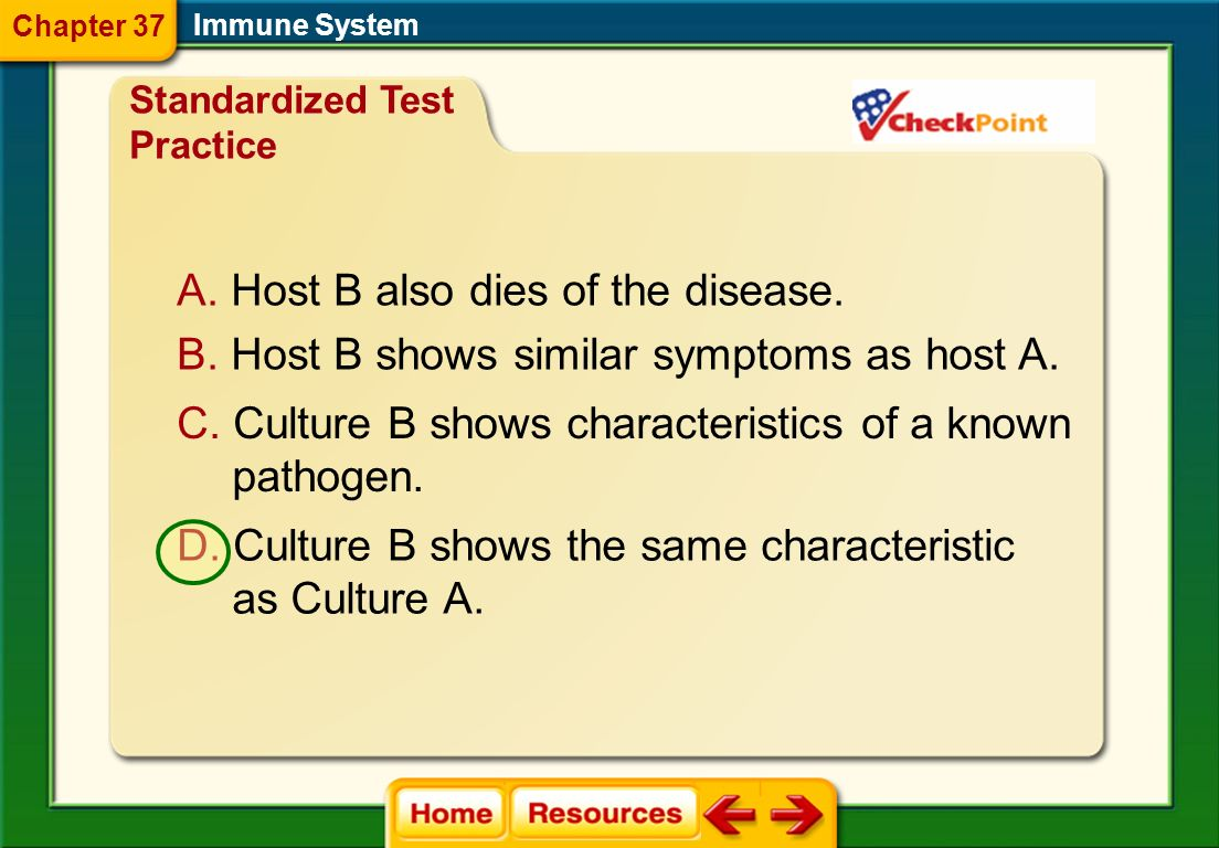 Host B also dies of the disease.