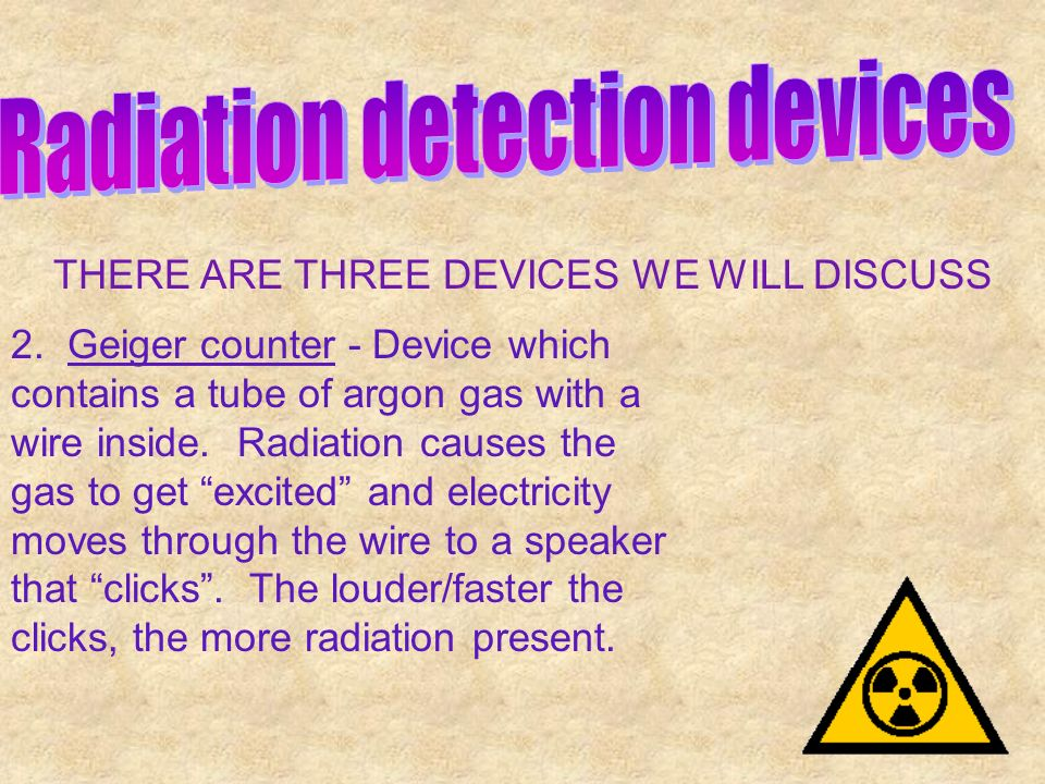 Radiation detection devices