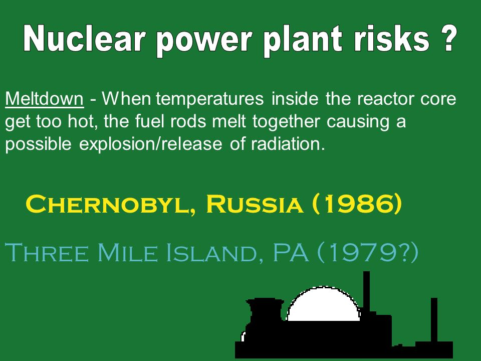 The dangers of a nuclear reactor