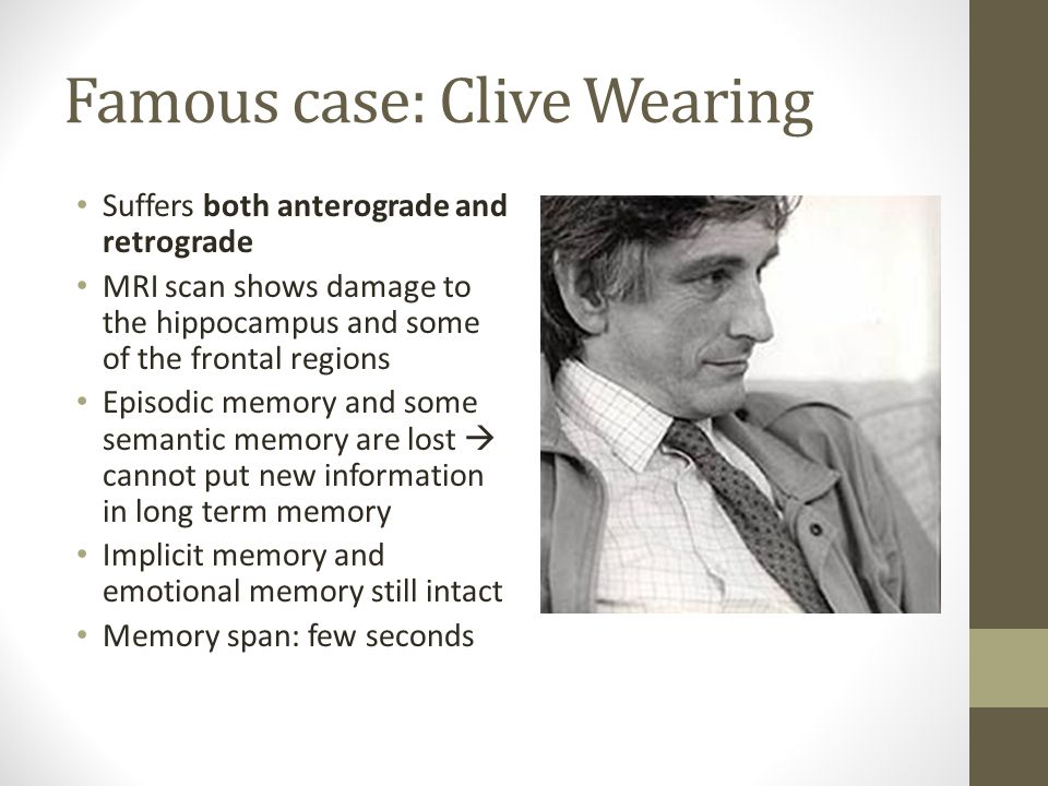Clive Waring Case Study Psychology - The Curious Case of ...