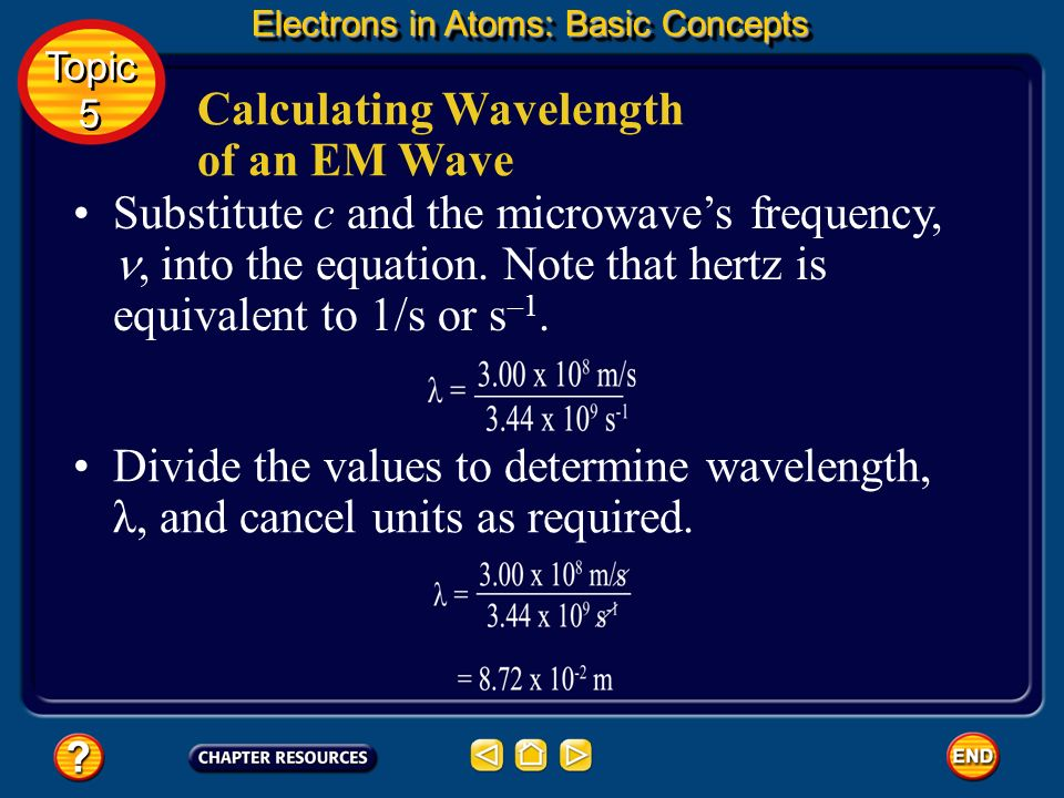 Calculating Wavelength of an EM Wave