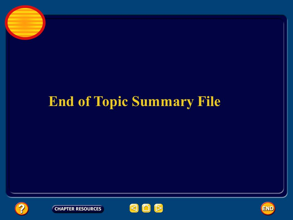 End of Topic Summary File